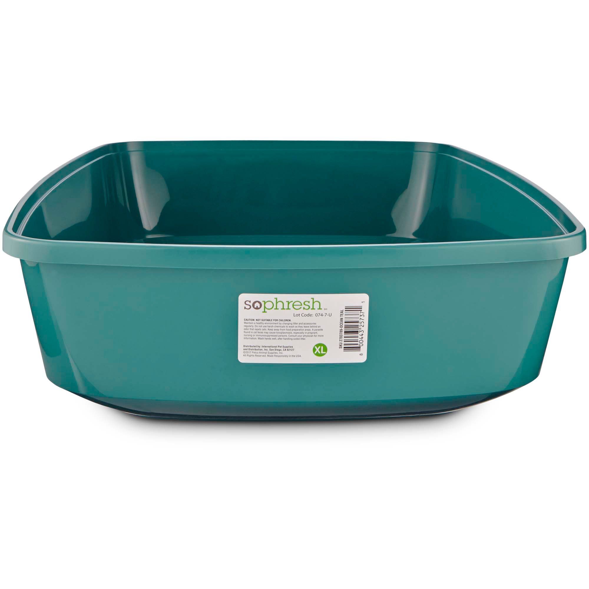 So phresh royal teal open cat litter box petco for Dog litter box petco