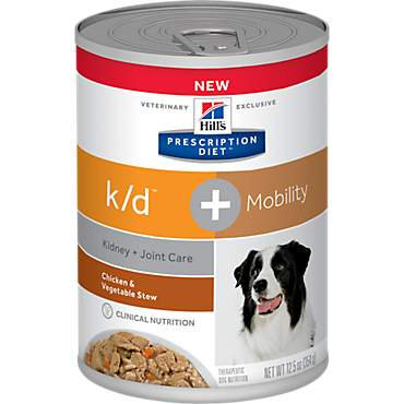 Hill's Prescription Diet k/d Kidney Care + Mobility Chicken & Vegetable Stew Flavor Canned Dog Food