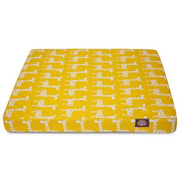 Majestic Pet Yellow Stretch Orthopedic Memory Foam Rectangle Dog Bed