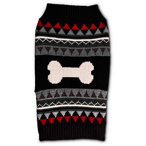 Bond & Co. Bone Faire Isle Dog Sweater | Petco