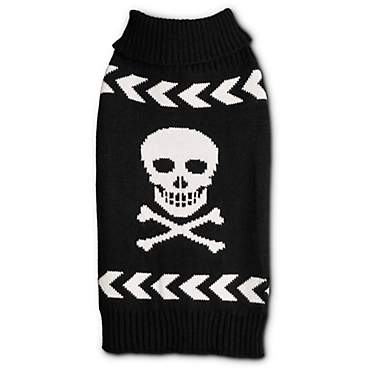 Bond & Co. Skull Dog Sweater with Chevron Arrow Stripes