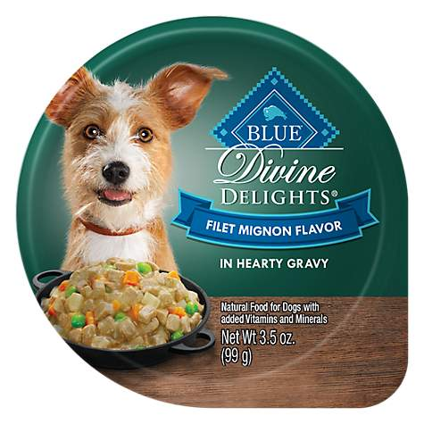 Blue Buffalo Blue Divine Delights Filet Mignon Flavor In Hearty Gravy Wet Dog Food