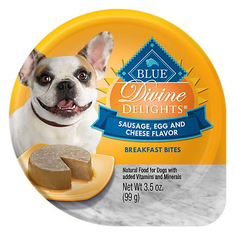 Blue Buffalo Blue Divine Delights Sausage, Egg & Cheese Flavor Breakfast Bites Wet Dog Food