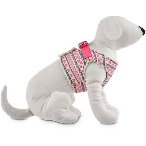 Bond & Co. Pink Vanilla Fair Isle Shearling Vest Harness | Petco