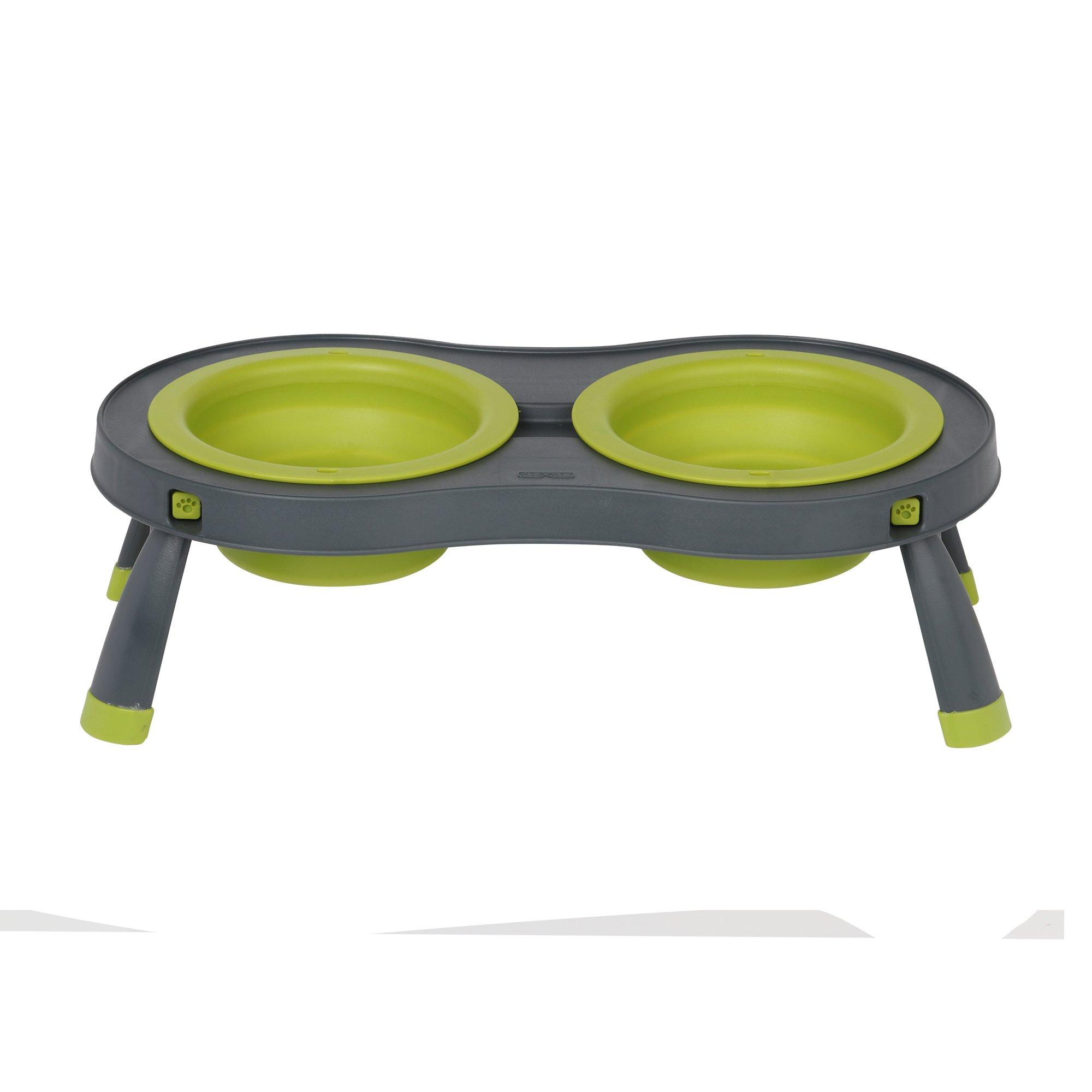 Dexas green grey collapsible pet feeder petco for Feeder fish petco