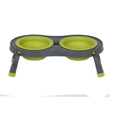 Dexas Green & Grey Collapsible Pet Feeder