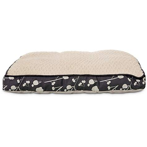 Harmony Floral Gray Memory Foam Lounger Dog Bed