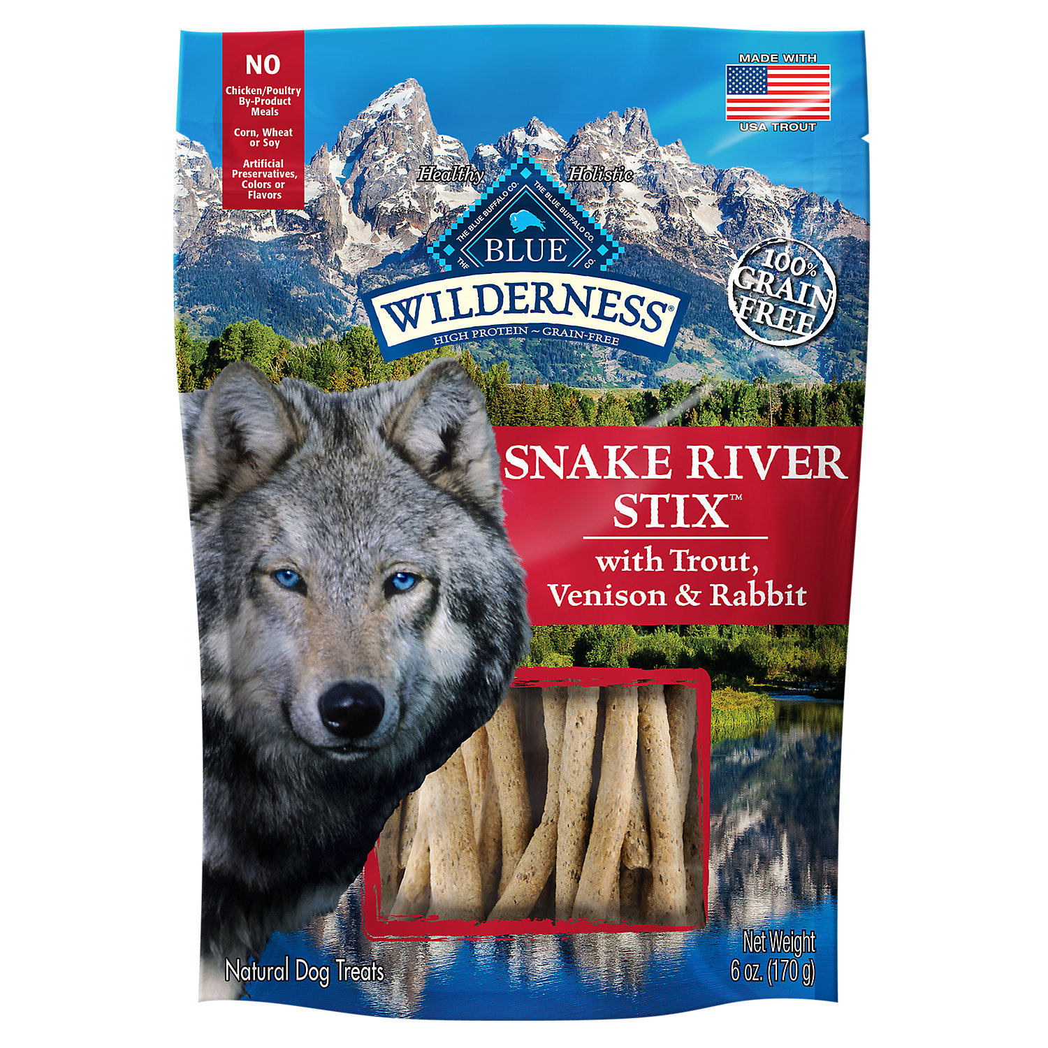 Blue Buffalo Snake River Stix Dog Treats 6 Oz.