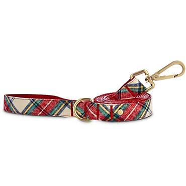 Bond & Co. Red and Green Plaid Dog Leash