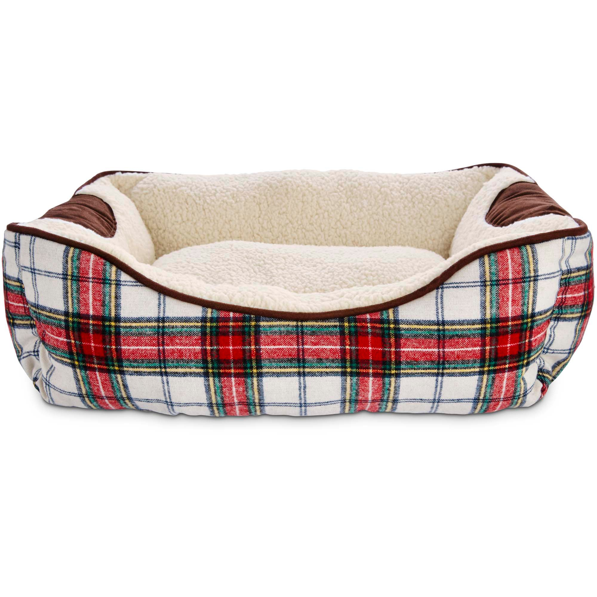 heritage collection red and green plaid dog bed | petco