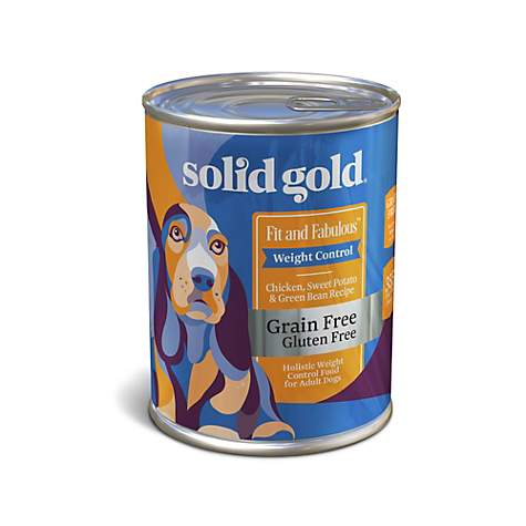 Solid Gold Fit & Fabulous Chicken, Sweet Potato & Green Bean Weight Control Grain Free Wet Dog Food