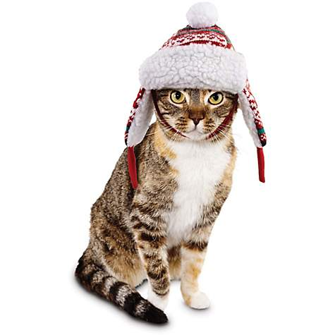 Time for Joy Snow Day Fair Isle Cat Trapper Hat | Petco