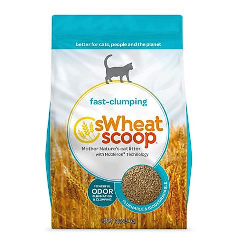 sWheat Scoop Natural Wheat Cat Litter, 12lbs
