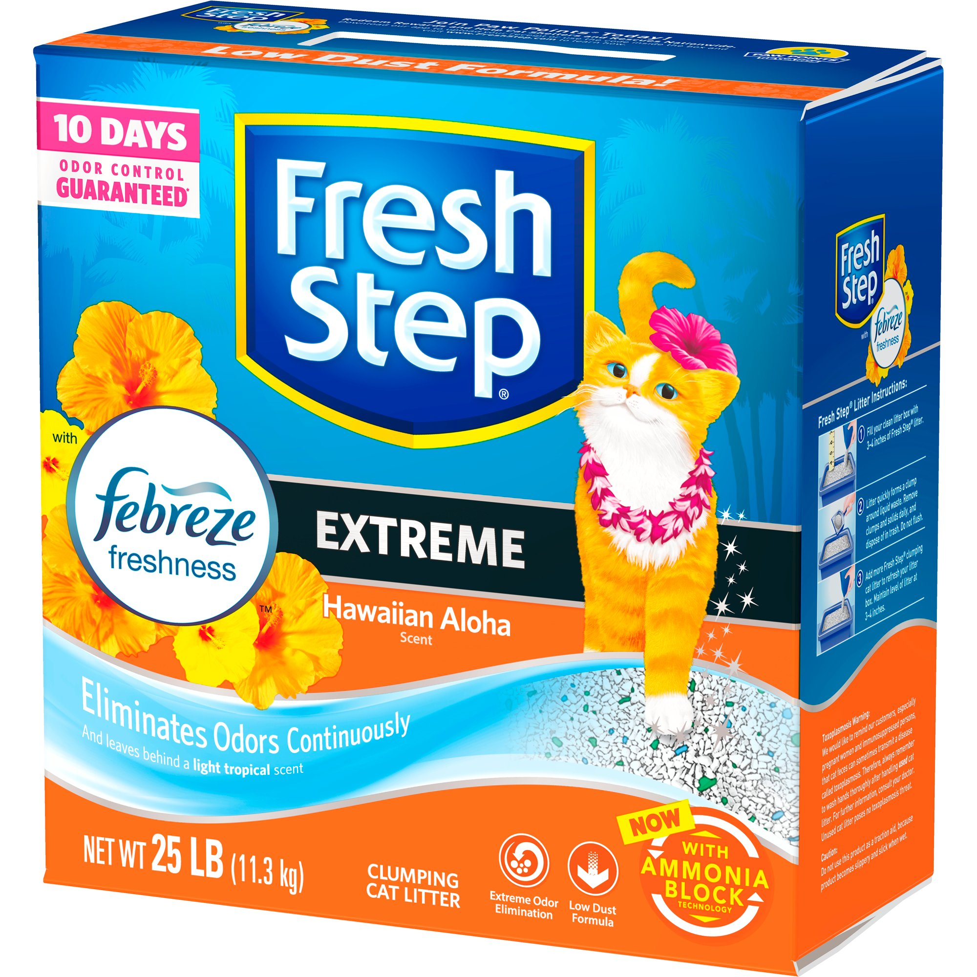 Fresh step with febreze extreme hawaiian aloha cat litter petco fandeluxe Gallery