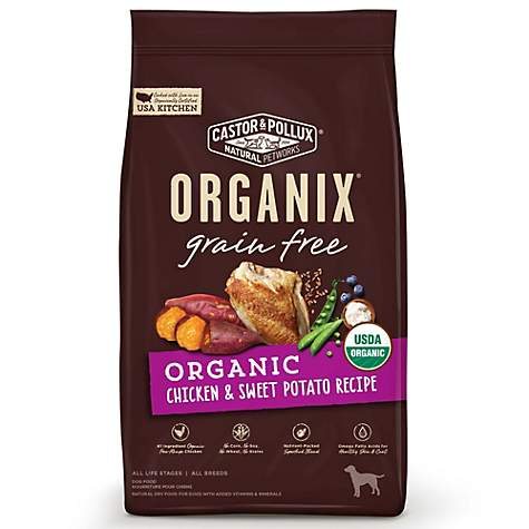 Castor & Pollux Organix Grain Free Organic Chicken & Sweet Potato Recipe Dry Dog Food