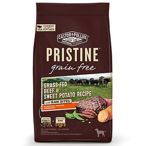 Castor & Pollux Pristine Grass-Fed Beef and Chickpea Recipe Dry Dog Food