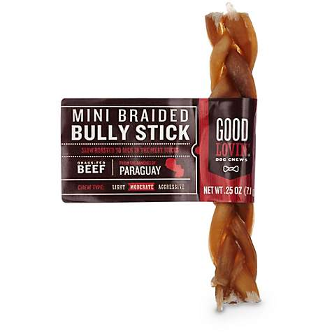 good lovin 39 mini braided bully stick dog chew petco. Black Bedroom Furniture Sets. Home Design Ideas