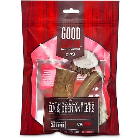 0e260e8edc687 Good Lovin' Naturally Shed Elk and Deer Antler Dog Chews, 12 oz.