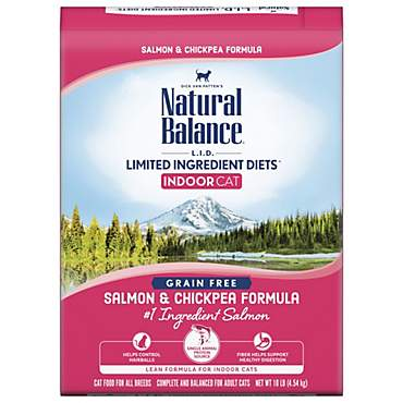 Natural Balance L.I.D. Limited Ingredient Diets for Indoor Cats, Salmon & Chickpea Dry Cat Food