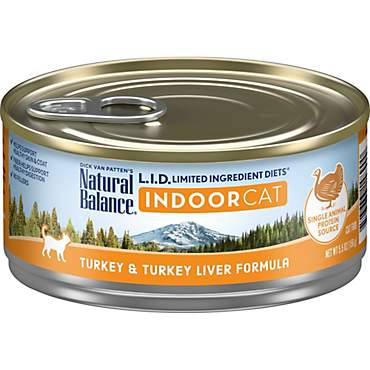 Natural Balance L.I.D. Limited Ingredient Diets For Indoor Cats, Turkey & Turkey Liver Wet Cat Food