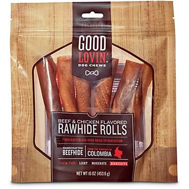 Good Lovin' Beef & Chicken Flavored Rawhide Roll Dog Chews