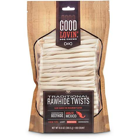 Good Lovin' Traditional Rawhide Twist Dog Chews