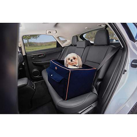 good2go quilted auto booster seat in blue petco. Black Bedroom Furniture Sets. Home Design Ideas