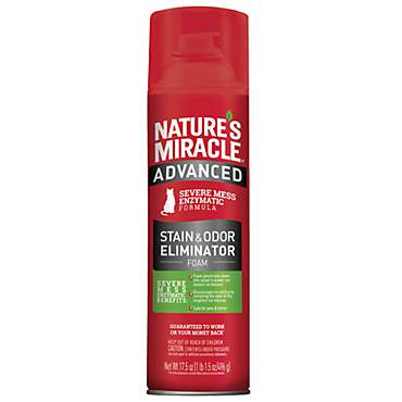 Nature's Miracle Just for Cats Advanced Stain & Odor Remover Foam