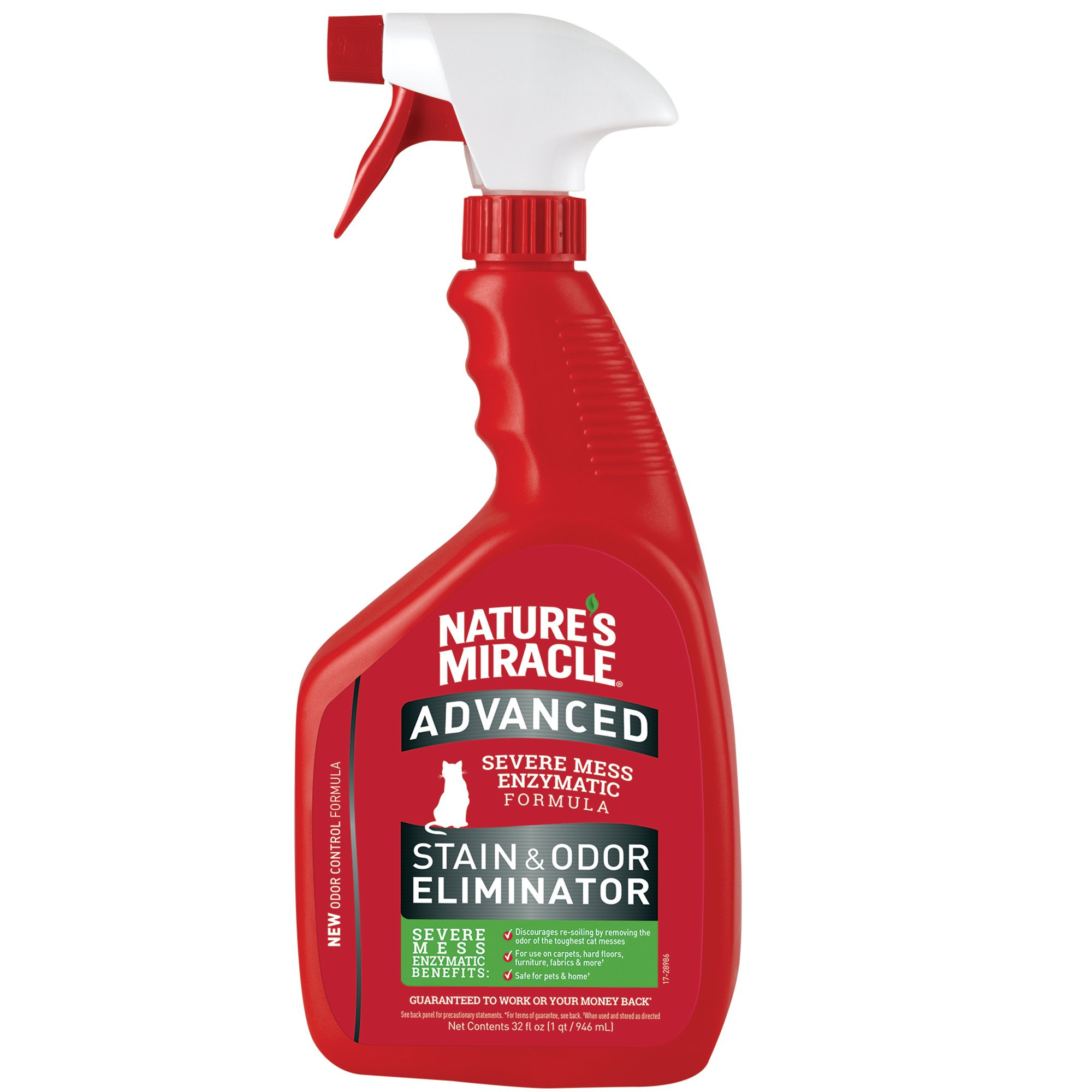 Nature's Miracle New Formula Just for Cats Advanced Formula Stain & Odor Remover, 32 fl. oz., 32 FZ