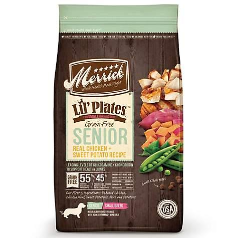 Senior Dog Food >> Merrick Lil Plates Small Breed Grain Free Real Chicken Sweet Potato Small Breed Senior Dry Dog Food 12 Lbs