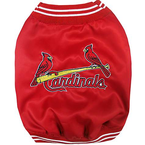 brand new ed8b8 db68c Pets First St. Louis Cardinals Dugout Jacket, Small