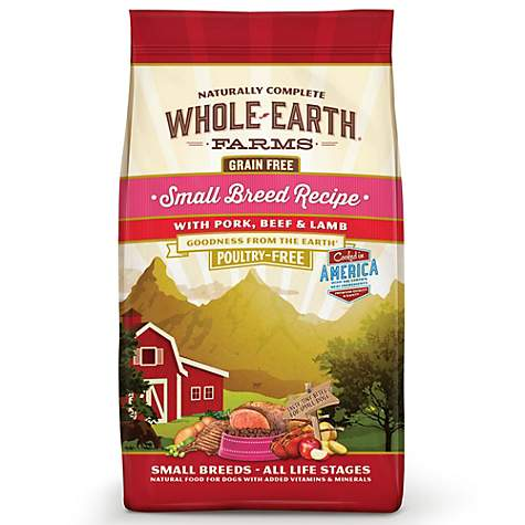 Whole Earth Farms Grain Free Small Breed Recipe with Pork, Beef & Lamb Dry Dog Food