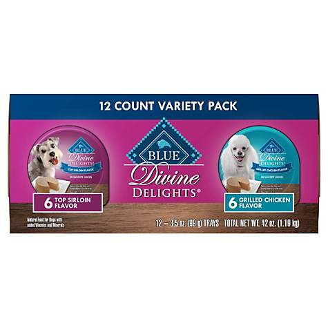 Blue Buffalo Blue Divine Delights Pate Top Sirloin/Grilled Chicken Variety Pack Dog Food