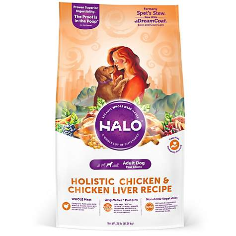 Halo adult holistic chicken chicken liver dry dog food petco halo adult holistic chicken chicken liver dry dog food forumfinder Image collections