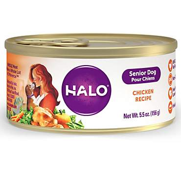 Halo Ground Chicken Senior Canned Wet Dog Food