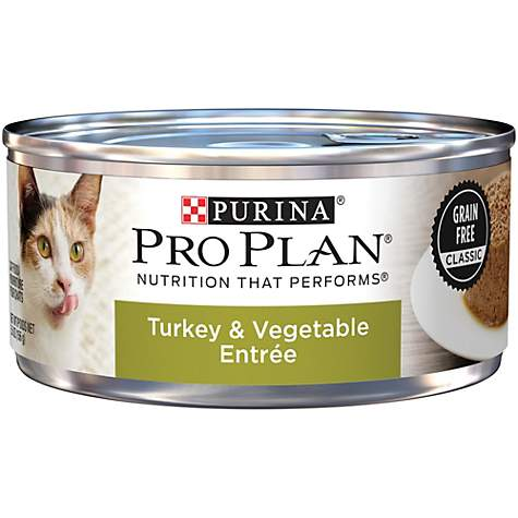 Purina Pro Plan Adult Grain Free Turkey & Vegetable Entree Classic Wet Cat Food