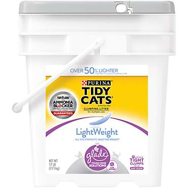 Purina Tidy Cats LightWeight Glade Tough Odor Solutions for Multiple Cats Clean Blossoms Clumping Cat Litter