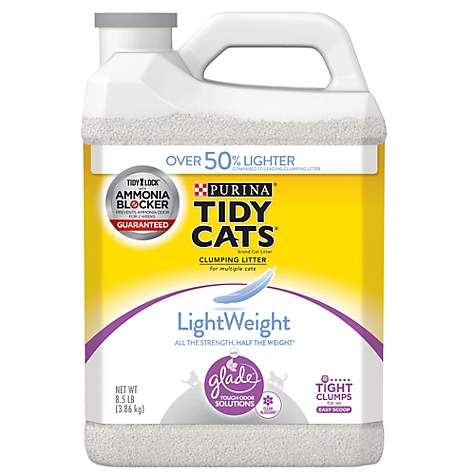 Purina Tidy Cats LightWeight Glade Tough Odor Solutions Clean Blossoms Clumping Litter for Multiple Cats