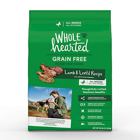 WholeHearted Grain Free All Life Stages Lamb and Lentil Formula Dry Dog Food