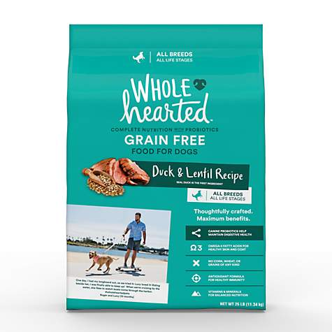 Wholehearted Grain Free All Life Stages Duck And Lentil Recipe Dry