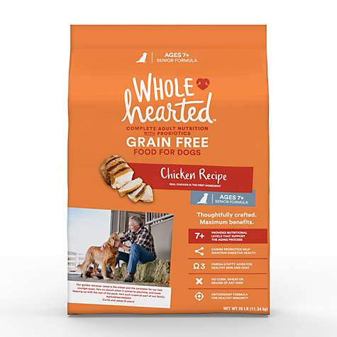 Wholehearted Grain Free Senior Chicken Recipe Dry Dog Food Petco