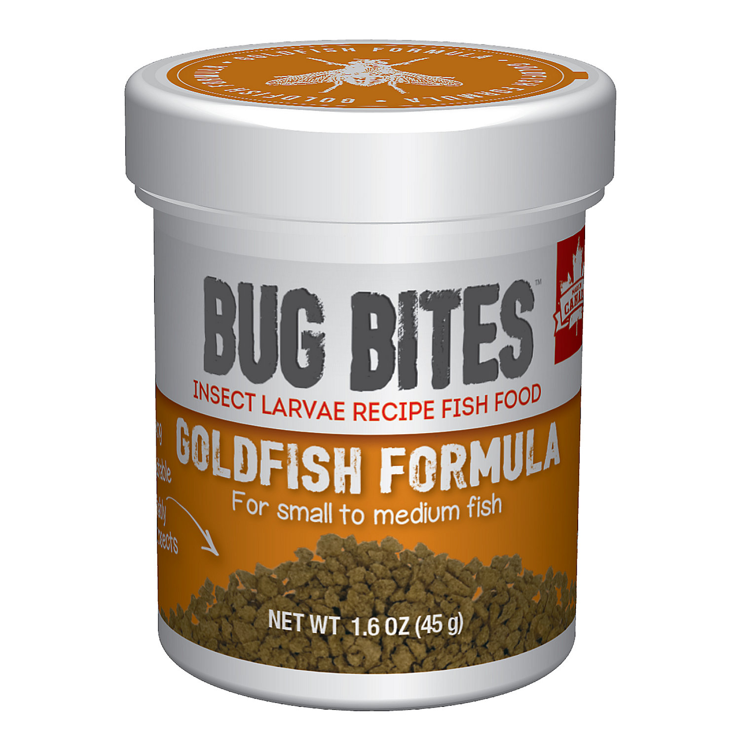 Fluval Bug Bites Granules For Small Medium Goldfish 1.59oz
