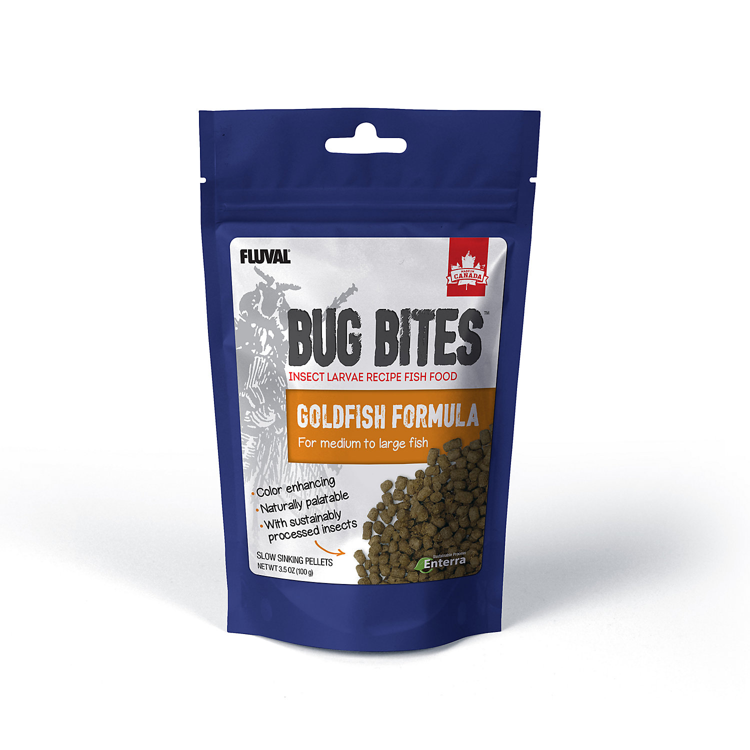 Fluval Bug Bites Pellets For Medium Large Goldfish 3.53oz