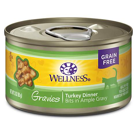 Wellness Complete Health Natural Canned Grain Free Gravies Turkey Dinner Wet Cat Food