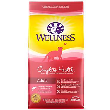 Wellness Complete Health Natural Salmon & Salmon Meal Dry Cat Food