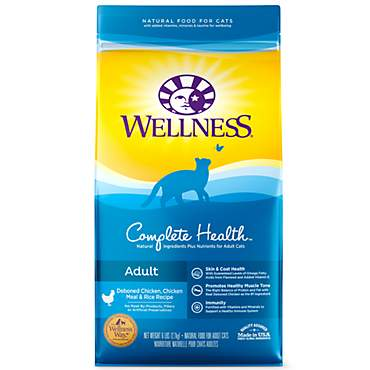 Wellness Complete Health Natural Deboned Chicken, Chicken Meal & Rice Dry Cat Food