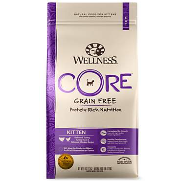 Wellness CORE Natural Grain Free Turkey, Whitefish & Chicken Dry Kitten Food