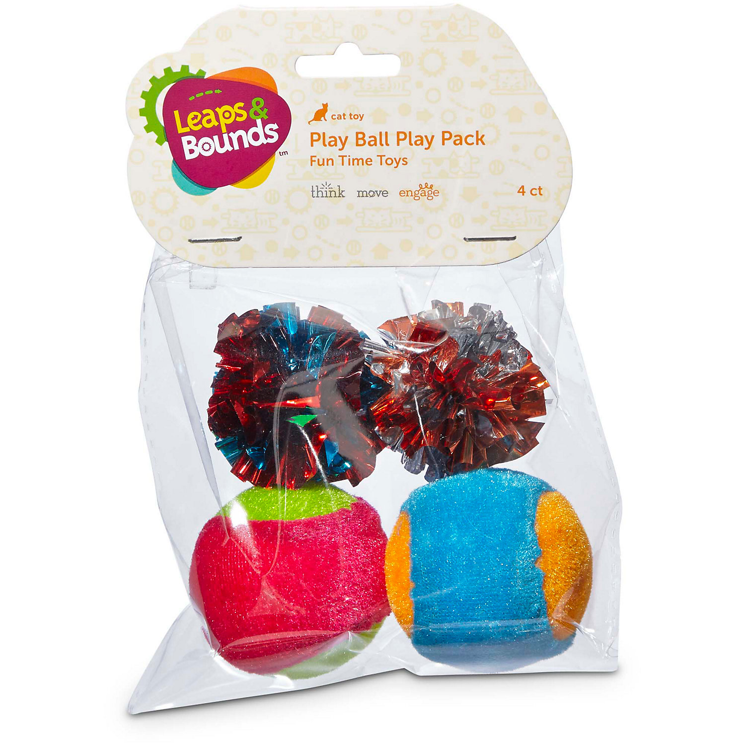 Image of Leaps & Bounds Ball Cat Toy Variety Pack