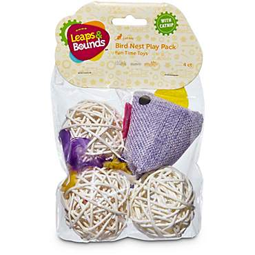 Leaps & Bounds Bird Cat Toy Multipack