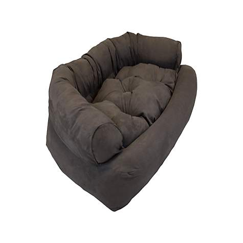 Snoozer Luxury Micro Suede Overstuffed Pet Sofa in Dark Brown